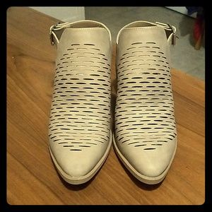City Classified Laser Cutout Booties NWOT